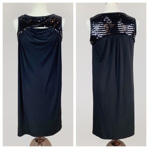 Black Sequin A-Line Dress